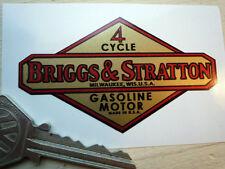 BRIGGS AND STRATTON Gasoline Motor STICKER Compressor Lawnmower Auxiliary Engine
