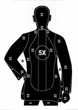 B-21 Style Pistol & Rifle Human Silhouette Shooting Targets -14x20 -54 Qty.