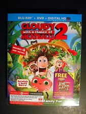 Cloudy With A Chance of Meatballs 2 Blu-ray/DVD Target Exclusive W/Slipcover