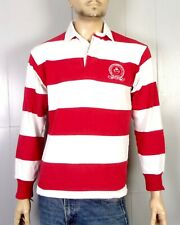 vtg 90s euc Barbarian Red White Visitation Academy of St. Louis Rugby Shirt S