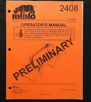 GENUINE RHINO 2408 FRONT TRACTOR LOADER OPERATORS MANUAL VERY NICE