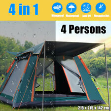 4 Person Fully Automatic Tent Family Picnic Hiking Camping Travel Windproof NEW
