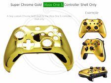 Nuevo controlador de Dorado Cromo Xbox One s Suave Carcasa frontal concha único Mod Personalizado