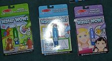 New Melissa And Doug Water Wow Lot 5 Lot of 3 Animals Colors Shapes Makeup