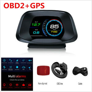 Universal Digital Car HUD OBD2 +GPS Speed Projector Speedometer Head Up Display