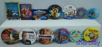 LOT OF 13 Movie TV ADVERTISING PROMO BUTTON Pinback COLLECTOR PINS