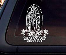 Virgin Mary Car Decal/Sticker - White