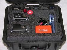 Black Pelican ™ 1300 Case fits 2 GoPro Hero6 6 5 4 3+ 3 2 Black +nameplate