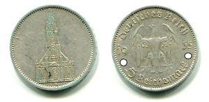 5 Reichsmark 1935A Silber