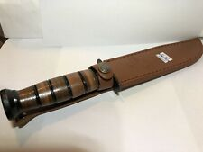 """New MTECH Marine Tactical Knife With Leather Sheath 7"""" Blade"""