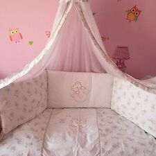 Be Be's Collection Bett Set Rosa Bär  Nestchen,Betthimmel,Kopfkissen,Bettbezug