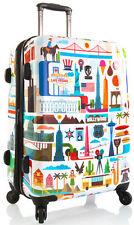 """Heys America Luggage FVT USA 26"""" Spinner Expandable Upright Suitcase - White"""