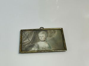 Antique Portrait Miniature of Lady Named & Dated on Back 1746-1806 + Other Info
