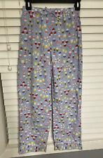 Lands' End Girls 10 Flannel Pajama Pants Light Blue Cupcake Soft PJs PJ Pant
