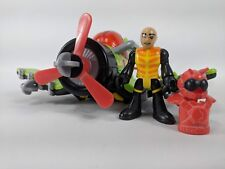 Fisher Price Imaginext Sky Racer Airplane Pilot Figure & Weapons Sea Stinger #7