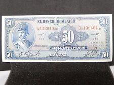 AU 1950 Banco de México 50 Pesos Ignacio Allende Serie CT Pick: 41d