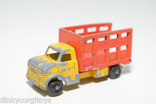 TUF-TOTS TUF TOTS LONE STAR CATTLE VAN TRUCK RED YELLOW GOOD CONDITION