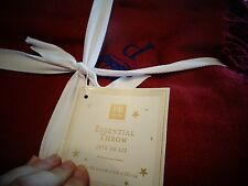 Pottery Barn Teen  Essential throw burgundy mono P with crown  New