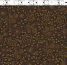 Brown Tonal - Spice Garden By Sue Zipkin for Clothworks Fabrics HALF YARD