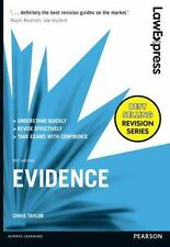 Law Express: Evidence  (UK IMPORT)  BOOK NEW