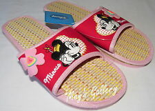Minnie Mouse Thongs Flip Flop Slippers Sandals Shoes Flops open Toe slip on NWT