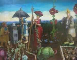 """Strangers in My Garden"" giclee print 32x40"