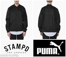 Puma x STAMPD Tech Bomber Jacket Coat Nero Biker Varsity Uomo Di Marca M £ 165