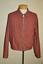 RRL Ralph Lauren XL Red Check/Olive Green Reversible Zipfront 100% Cotton Jacket
