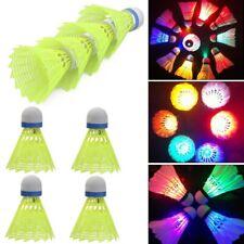 8PCS Creativity Night Colorful LED Badminton Feather Shuttlecocks Lighting Sport