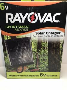 Rayovac Solar Charger 6 Volt Outdoor Batteries Recharge Feeders Hunting