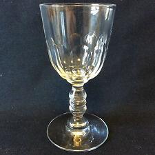Baccarat  H 11,9cm verre cristal Gondole Médicis taille côtes plates circa 1850