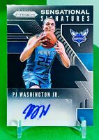 PJ Washington Jr. 2019-20 Panini Prizm Basketball Rookie RC Auto Hornets