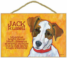 Jack Russell Terrier Traits & Characteristics Sign 7.5 x 10