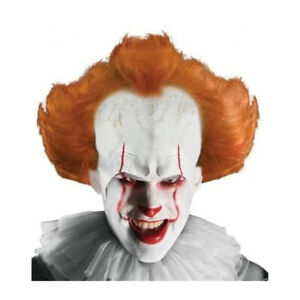 Pennywise Adult  Wig Attached Headpiece IT Movie Bald Clown Scary Creepy Horror