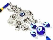Blue Evil Eye Elephant Monkey Wall& Car Hanging Amulet Protection Blessing Decor