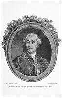 NECKER, DIRECTEUR GÉNÉRAL des FINANCES sous LOUIS XVI - Gravure du 19e siècle