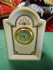 "Great Collectible Lenox Miniature Quartz Clock.5"" height"