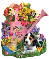 Jigsaw Puzzle Watering Can Spring  Freeform 1000 pieces NEW Made in the USA