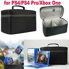 Large Capacity CD Carrying Case Discs Storage Bag for PS4/PS4 Pro/Xbox One Black