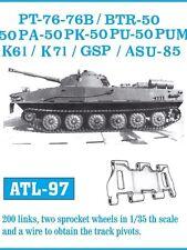 FRIULMODEL METAL TRACKS PT76/BTR50/K61/K71/GSP/ASU85 Scala 1/35 Cod.ATL-97