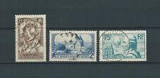 FRANCE - 1936 YT 310 311 et 313 - TIMBRES OBL. / USED