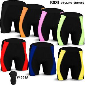 Kids Cycling Shorts Anti-Bac Padded MTB Bicyle Lycra Short Children Junior Sizes