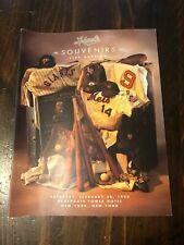 Leland's 1993 Sports Souvenirs live auction catalog - Incredible items!