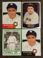 Babe Ruth New York Yankees lot (4) Baseball Cards Free Shipping