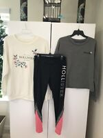Hollister Lot Size Large Sweater, Leggings, And Jumpsuit!