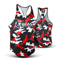 Men's Gym Stringer Tank Top Y-Back Bodybuilding Workout Mesh Sleeveless Vest