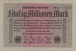 Germany 50 Million Mark 1923 UNC