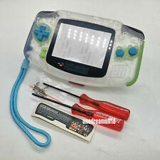 For Nintendo Game Boy Advance Clear White Housing Shell Case Cover+Hand Strap