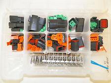 DEUTSCH DT SERIES BLACK CONNECTOR KIT 237 PC  STAMPED terminal + pic tool