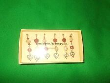 The Pier Candle Decorations Pins Jewellery 6 pins in box hearts/pearls